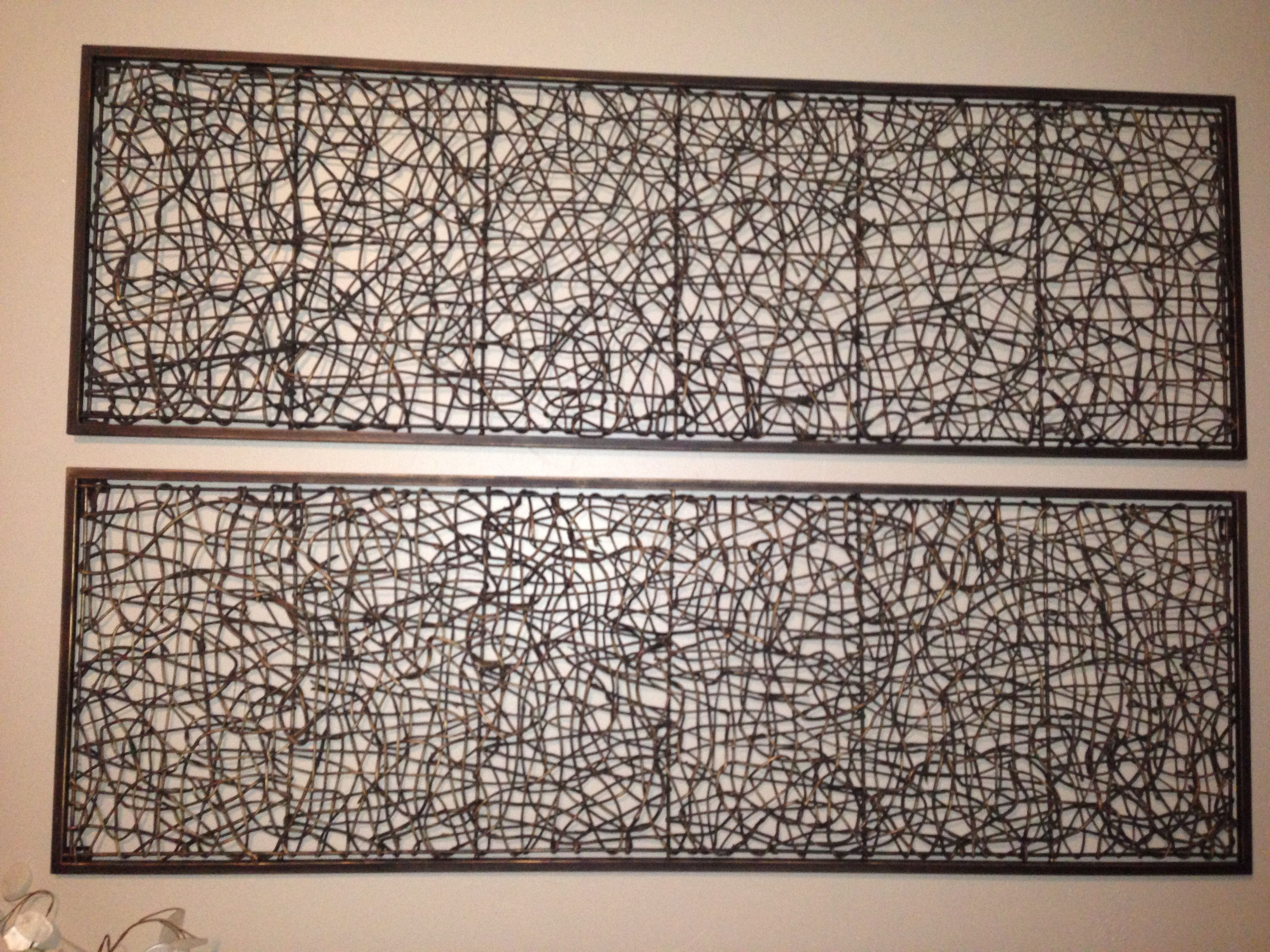 Metal and rattan wall decor | DIY | Pinterest