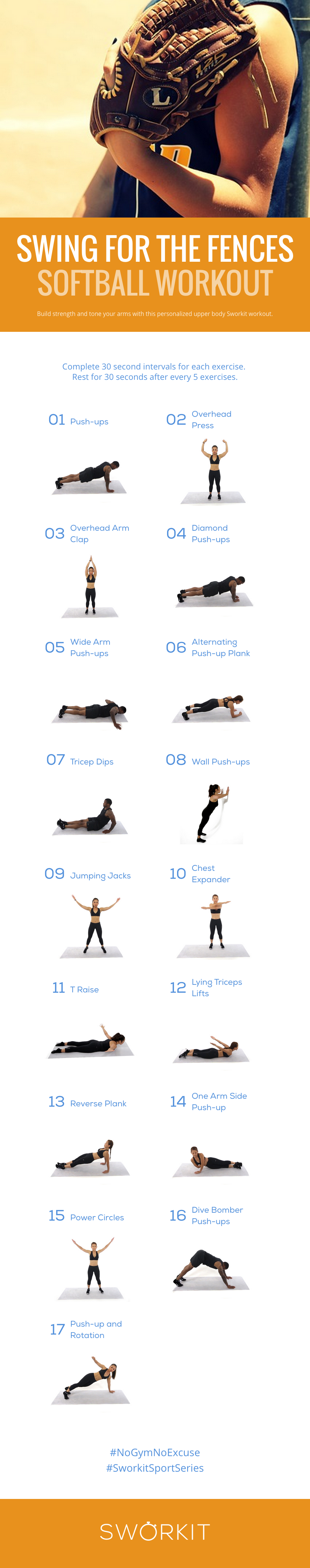 Softball Custom Workout For Sworkit For Ios And Android If You Have The Sworkit App You Can Import This Workout Dir Softball Workouts Girls Softball Softball
