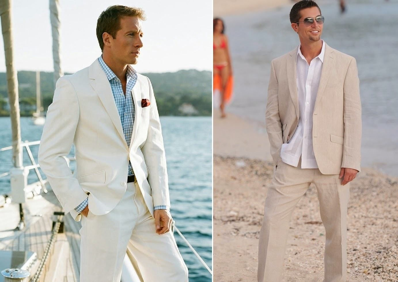 beach-wedding-groom-picturesgrooms-ivory-linen-beach-wedding-suit ...
