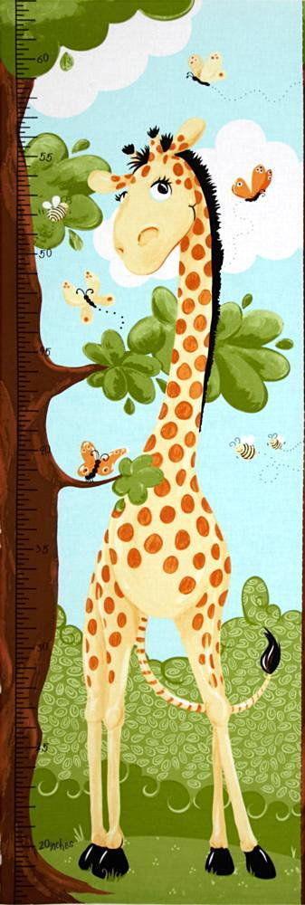 World Of Suzybee Zoe Giraffe Growth Chart Fabric Panel 100 Cotton