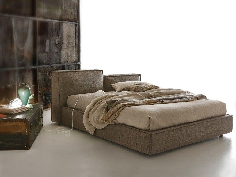 Bett mit Bettkasten mit verstellbarem Kopfteil MISTY by Ditre