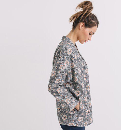veste kimono imprim e femme imprim multicolore vestes blousons femme promod got it. Black Bedroom Furniture Sets. Home Design Ideas