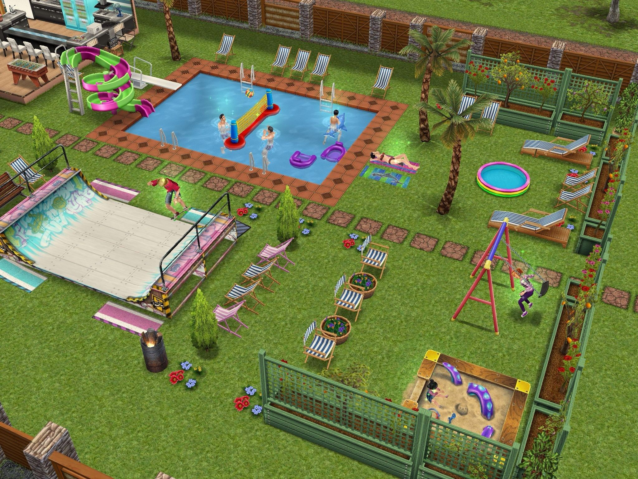 Simsfreeplay Skate Park Pool Playground And Park Sims Freeplay