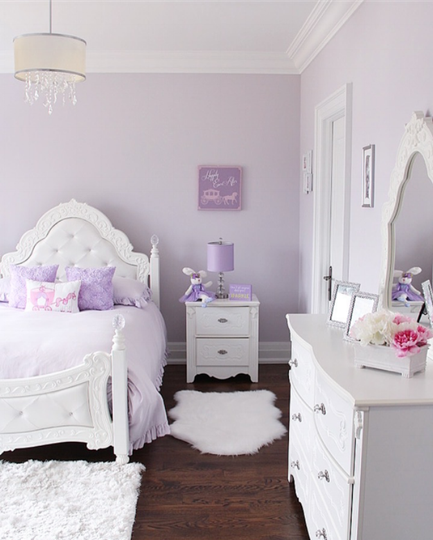 Lovely Lavender Fairytale Girl's Bedroom images