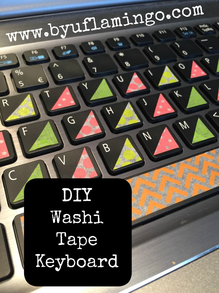 Washi Tape Keyboard With Images Diy Washi Tape Keyboard Diy