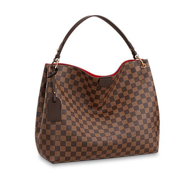 114ba929fd Cadeau de Saint-Valentin de luxe pour Femme - Graceful MM Toile Damier  Ebène Femme Sacs à main | LOUIS VUITTON