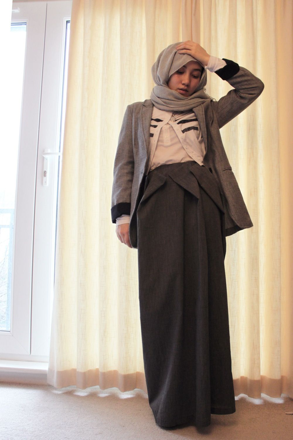 Hijab Fashion Mixing Western Modern Business Dress This Will Work Here Kristi Chic