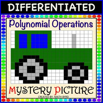 Polynomial Operations Differentiated Mystery Picture Color Activity With Images Polynomials Mystery Pictures Color Activities