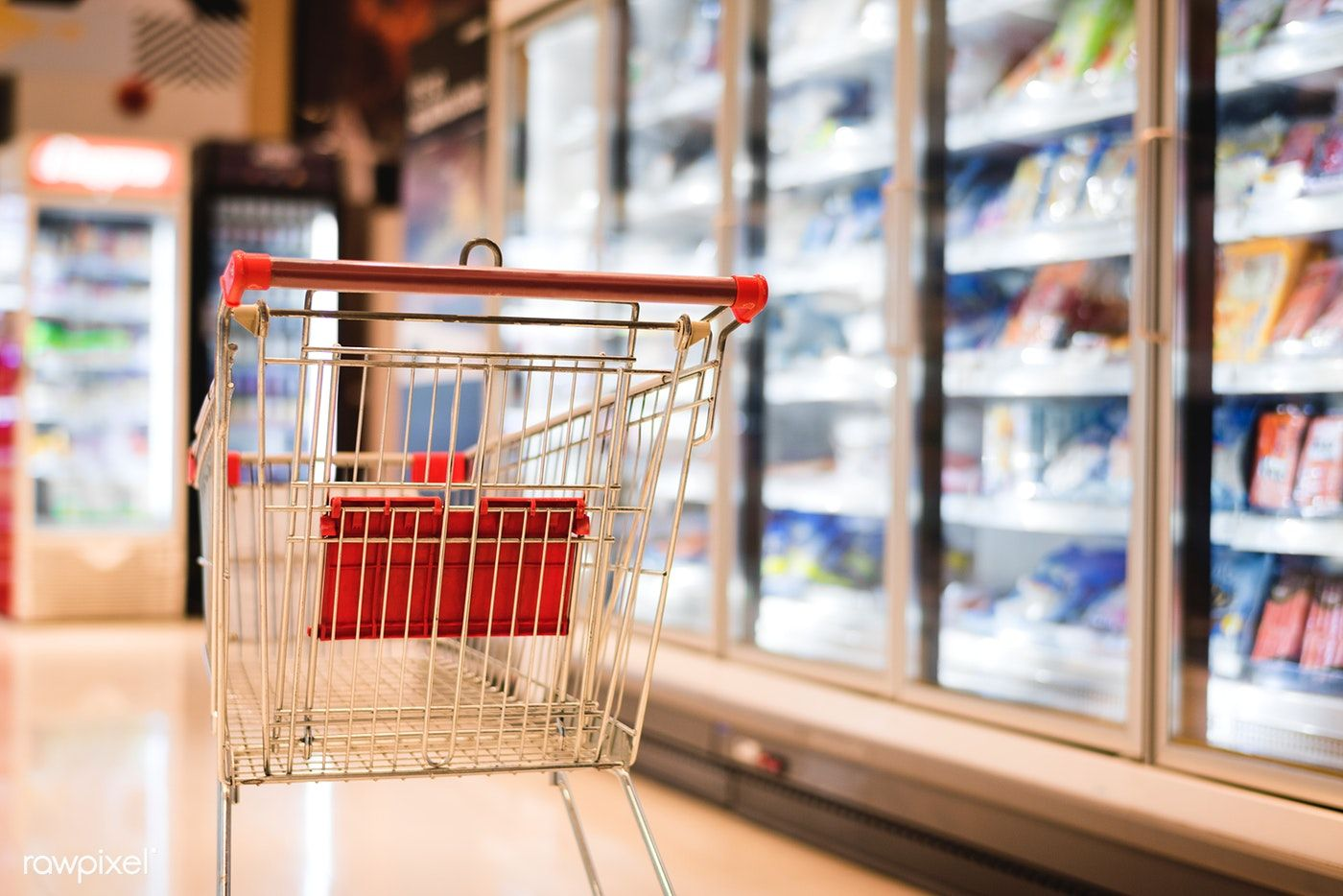 Shopping cart in a super market free image by