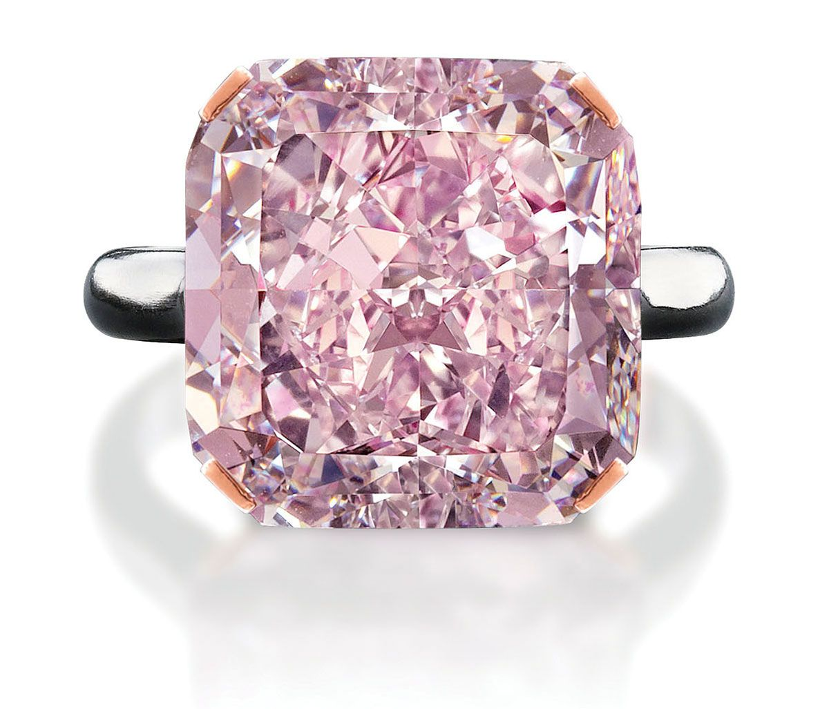 10 carat light purplish pink diamond. This 10-carat gem was cut and ...