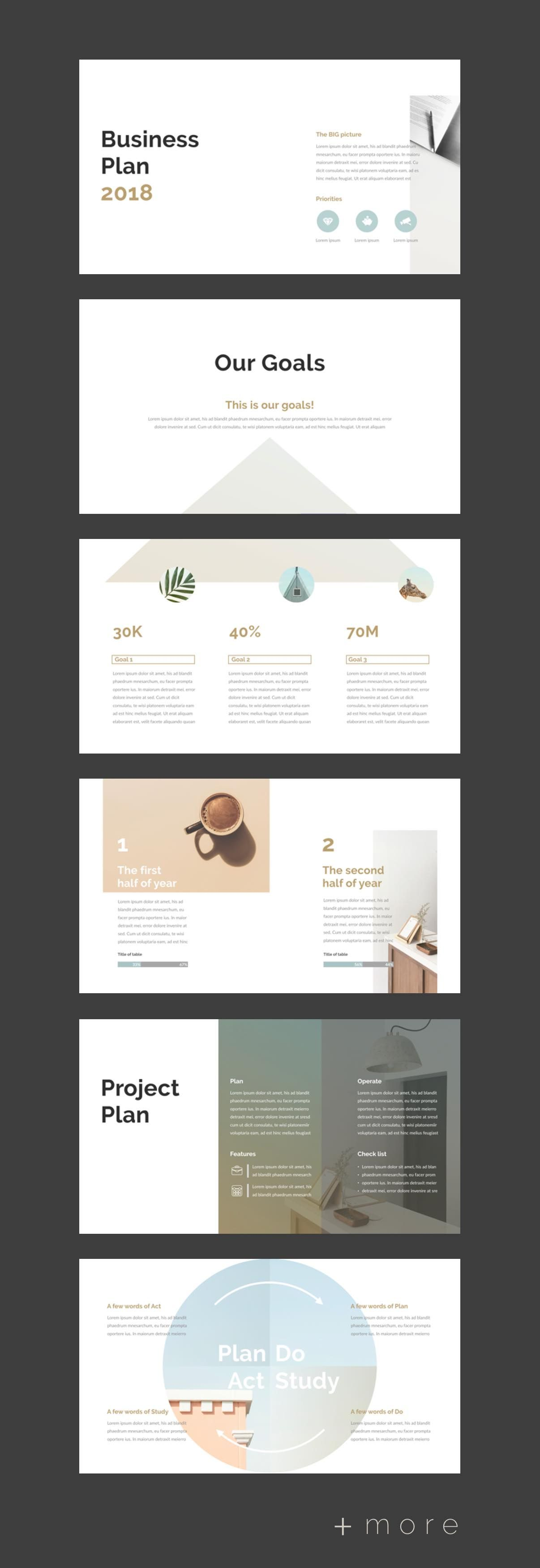 simple planner presentation template presentation powerpoint