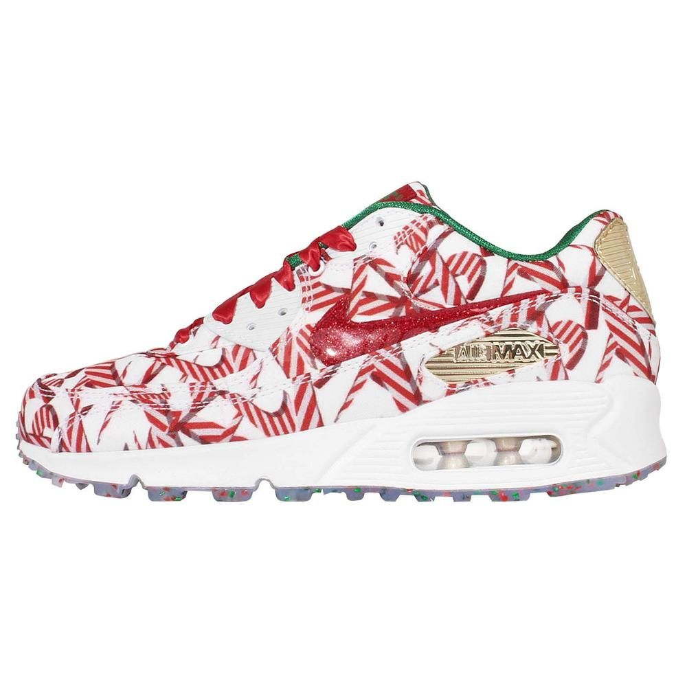 Wmns Nike Air Max 90 QS Christmas Gift Wrapped Pack Running Shoes ...