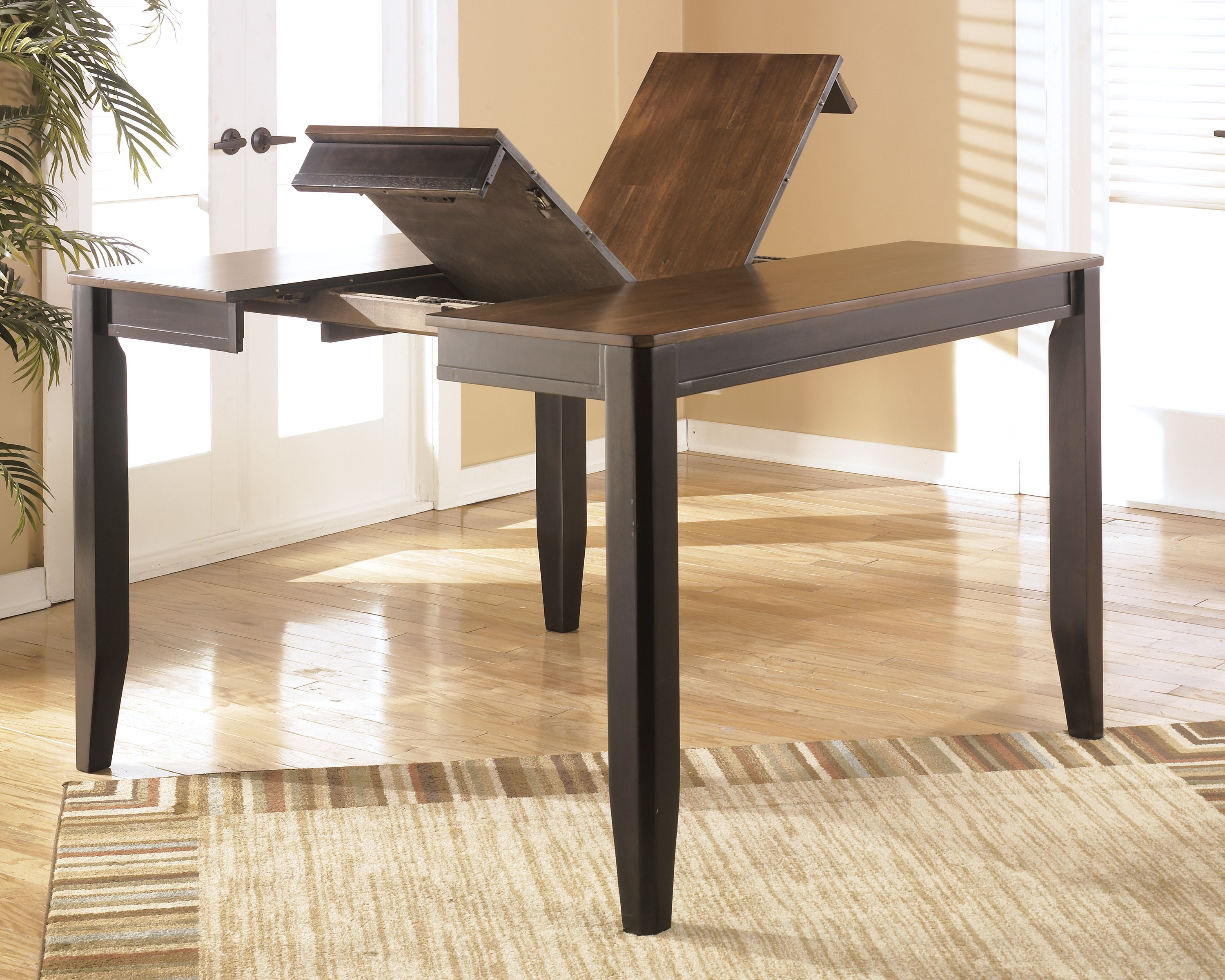 Two Tone Brown Alonzo Counter Height Dining Room Table View 1