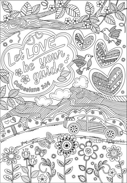 Let love be your guide | Colossians 3:14 | Coloring quotes ...