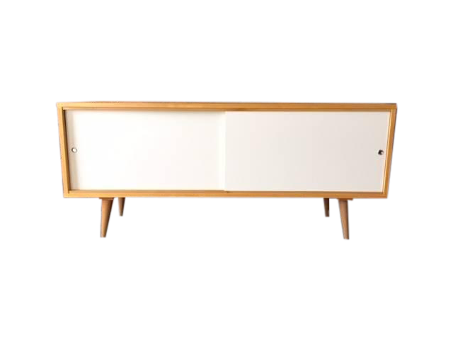 Mid-Century Style Custom Maple Wood Credenza on Chairish.com