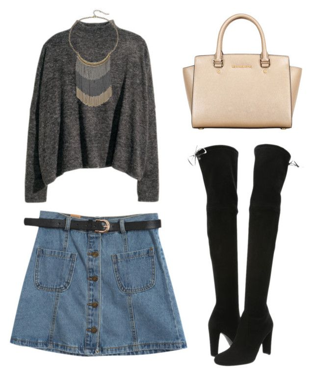 """Untitled #68"" by bettywhite13 ❤ liked on Polyvore featuring Chicnova Fashion, Stuart Weitzman and MICHAEL Michael Kors"