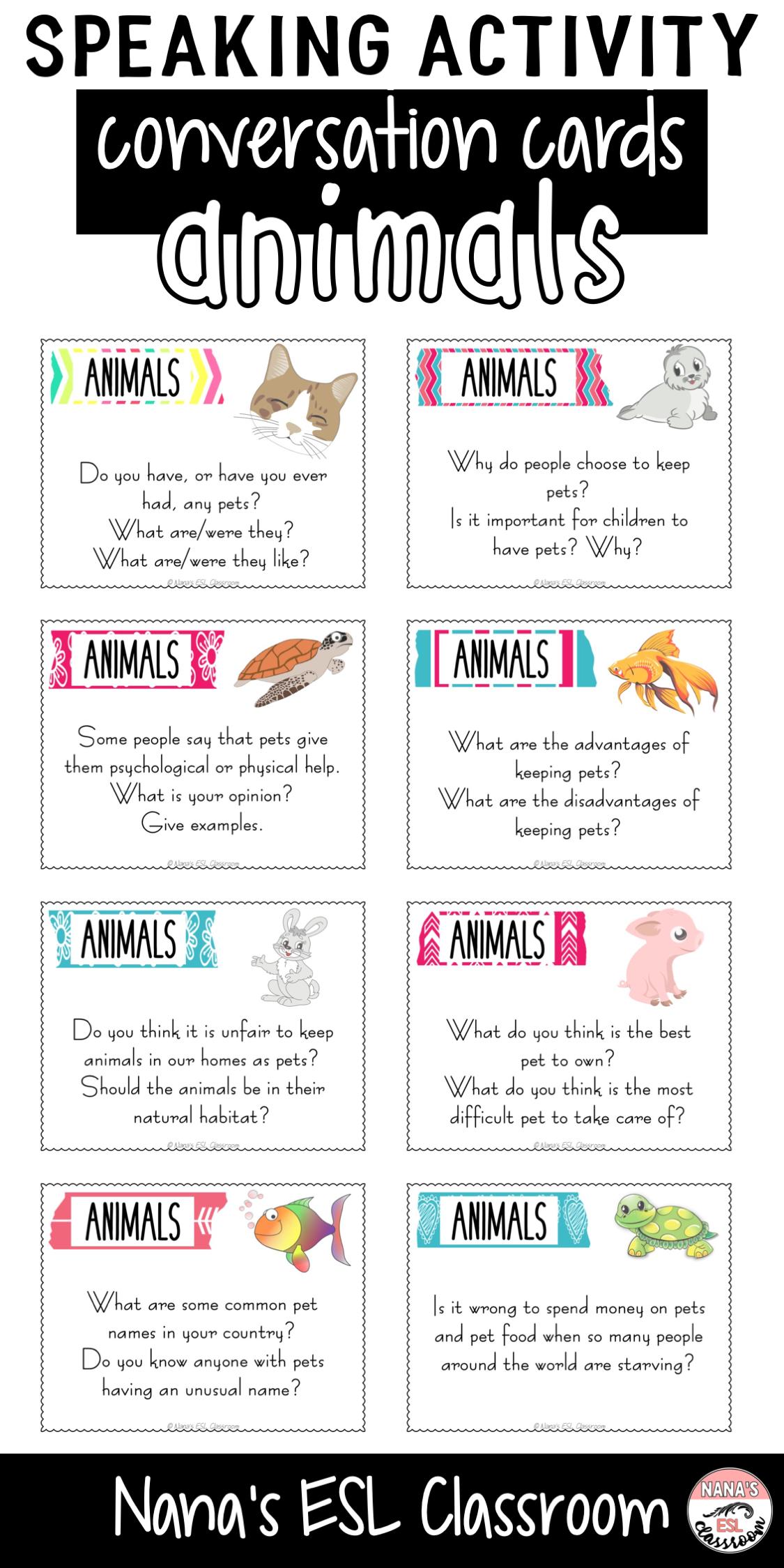 Conversation Starters About Animals