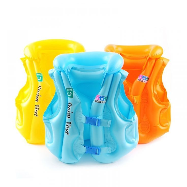 New Children Inflatable Swim Vest Baby Kid Life Jacket Summer Beach Tourism Swimming Aid Water Sports Baby Life Jacket Kids Life Jackets Toddler Safety