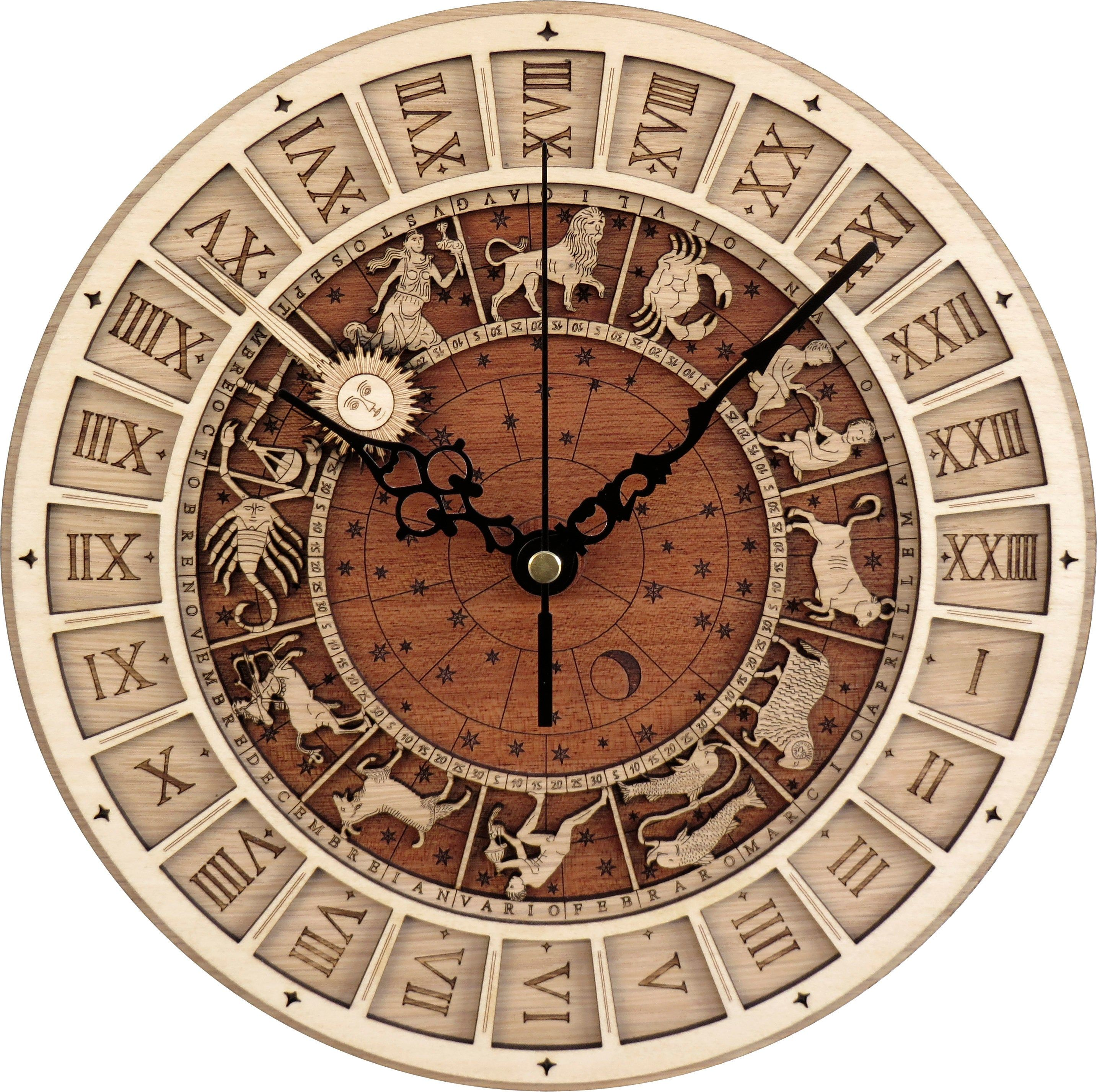 Venice Clock Venezia Clock In Wood Astronomical Clock Limited Production Shipping Included Free Shipping Relogio De Parede Parede Relogios