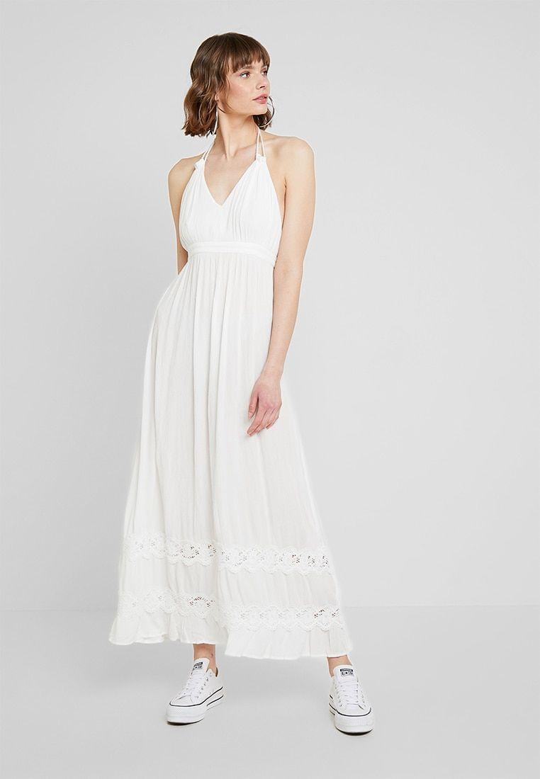 INSERT HALTER NECK BEACH DRESS - Maxikleid - ivory ...