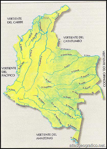 Colombia Y Sus Departamentos Mapa Hidrográfico De Colombia Y Sus Rios Simbolos Patrios De Colombia Mapa De Colombia Independencia De Colombia