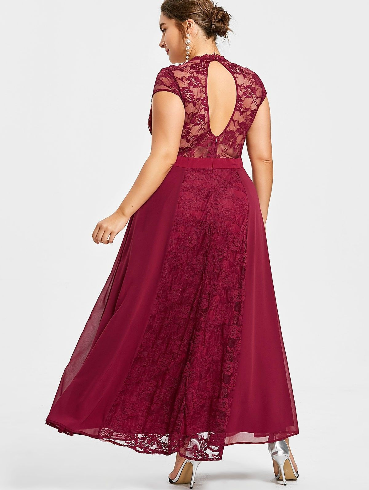 Plus size open back flowing prom dress pinterest red wines and prom