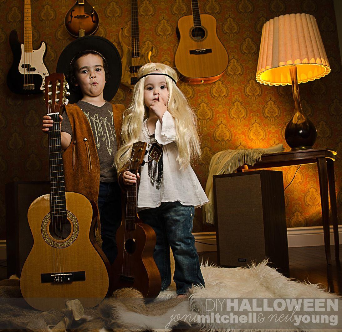 Last Minute DIY Halloween Costume For Toddler Siblings