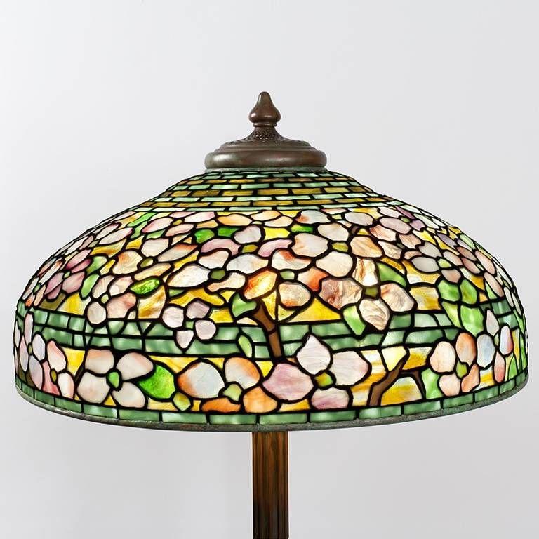 Tiffany Studios Dogwood Floor Lamp 1stdibs Com Tiffany Floor Lamp Lamp Glass Art