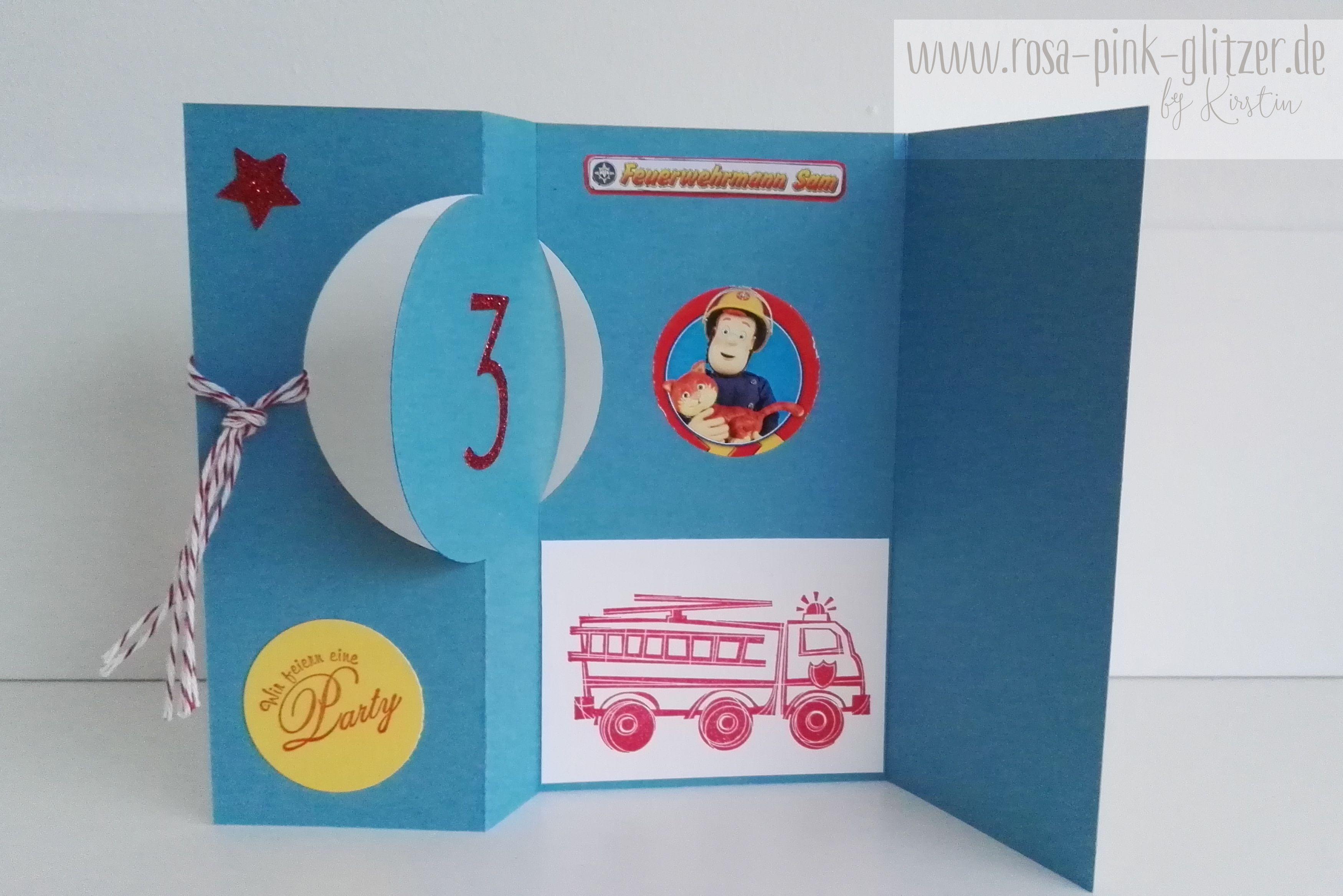 Feuerwehrmann Sam Geburtstagskuchen Geburtstagseinladungen