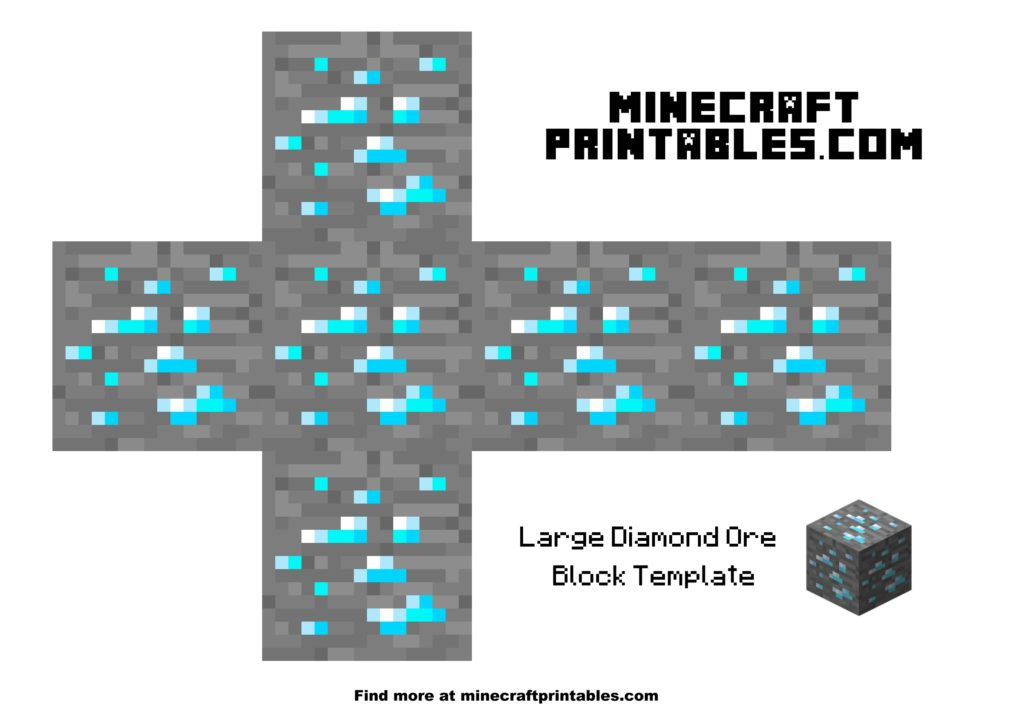 graphic relating to Minecraft Sword Printable referred to as Diamond Ore Minecraft Plans Minecraft iron, Minecraft