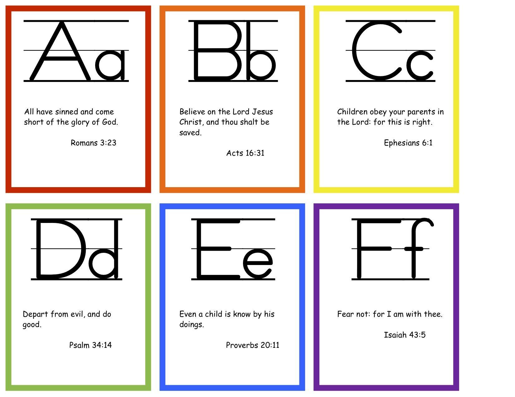Abc Bible Verses Flashcards Free Printable