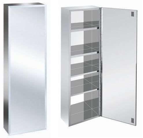 900mm Tall Stainless Steel Mirror Bathroom Cabinet Co Uk Kitchen