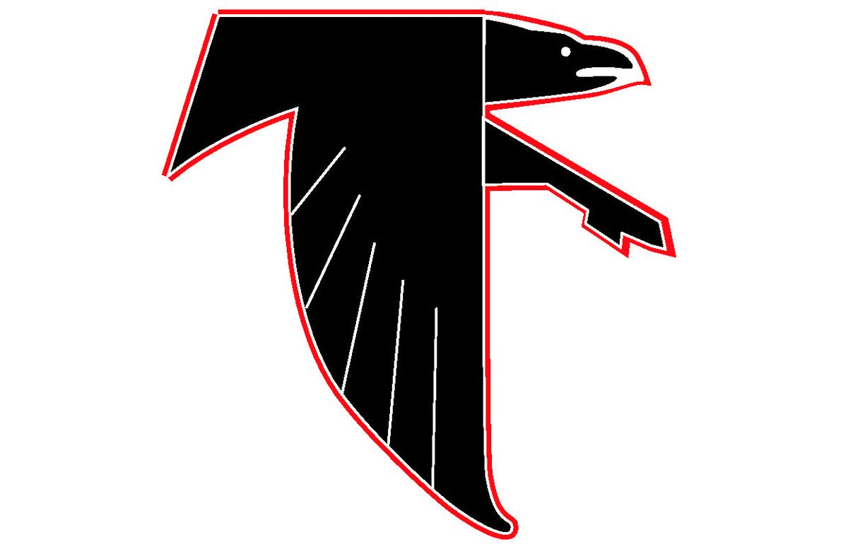 Atlanta falcons old logo all logos world pinterest falcons the atlanta falcons logo is a remarkable example of visual consistency the side view of the falcon bird has always been the one and only visual center of voltagebd Choice Image