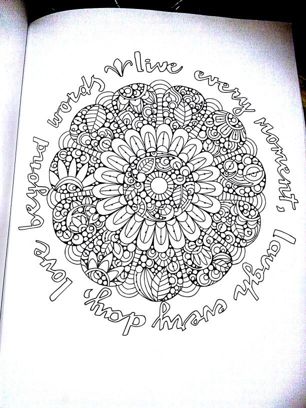 Page scanned from the Creative Coloring Mandala Expressions adult