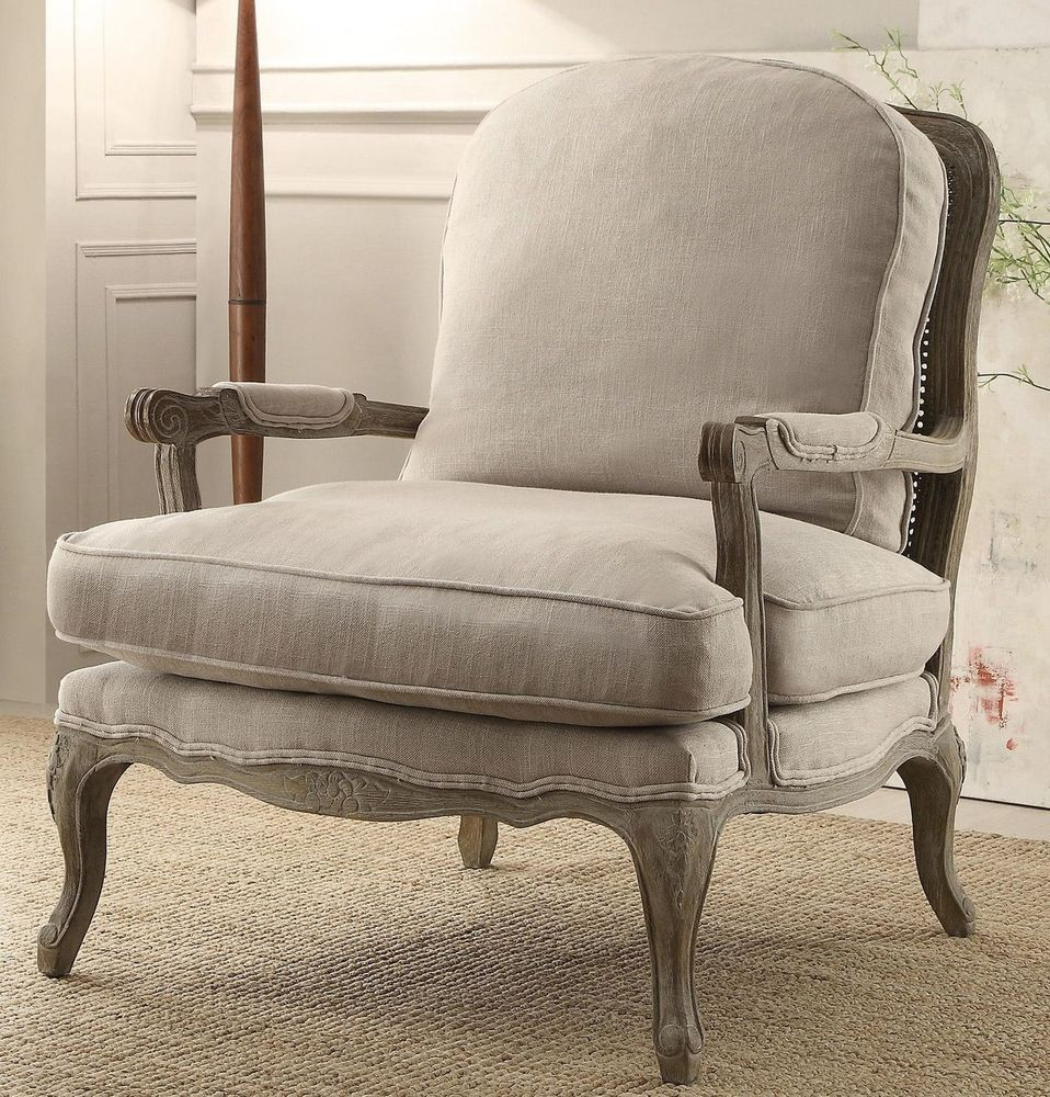 French Country Style Armchair Vintage Weathered Countryside