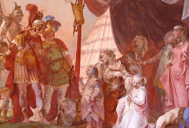 The meeting of Alexander the Great and the family of Darius. Villa Veneta Ca' Marcello - Italy
