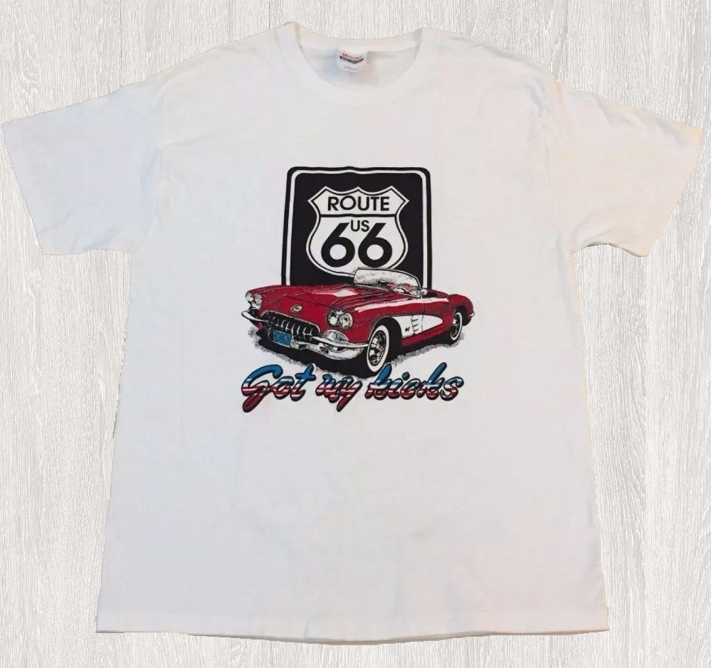WHITE Route 66 Lady TSHIRT Route Us 66 Get Your Kick Womens Tee Shirts