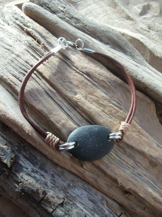 Photo of Sea Stone jewelry,  Sea Pebble Bracelet -Scottish Seaglass-Surfers Necklace-Beachwear. by Natures Design