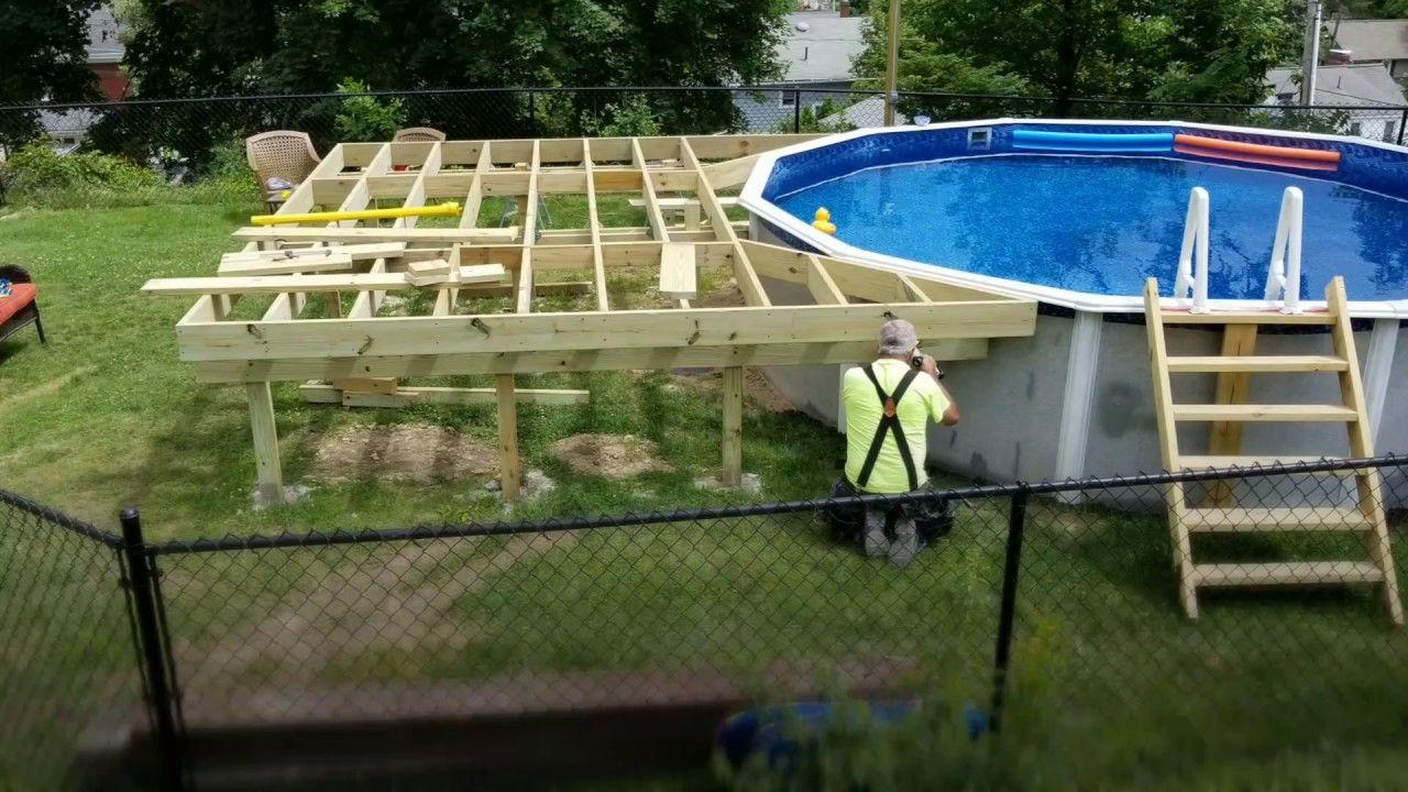 Diy How To Build A Pool Deck Building A Pool Decks Around