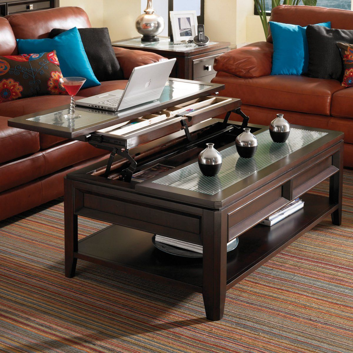 Glass Coffee Table Lift Top 8