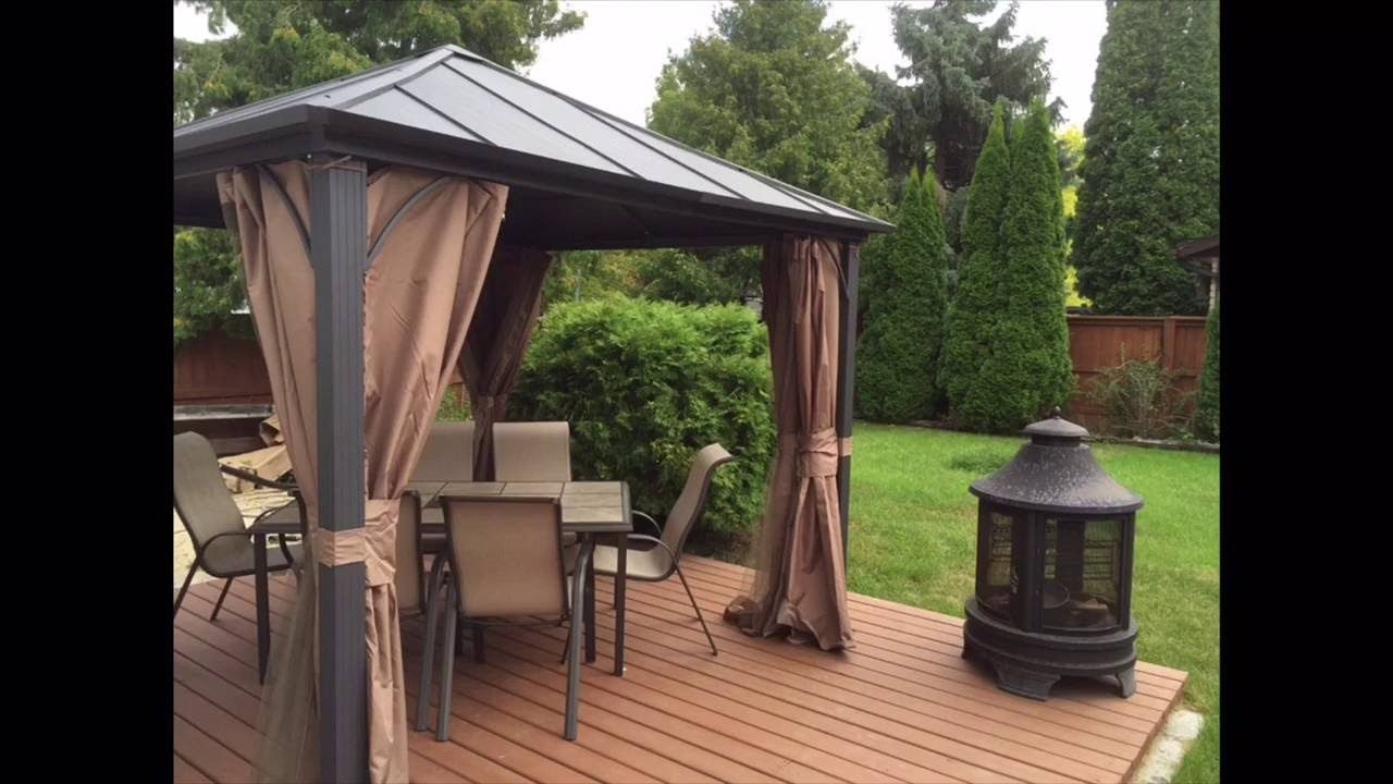 New Crazy Project New Metal Roof Gazebo 10x10 New Deck New Patio Dining Set New Fire Pit Youtube Gazebo Roof Gazebo On Deck Patio Garden Design