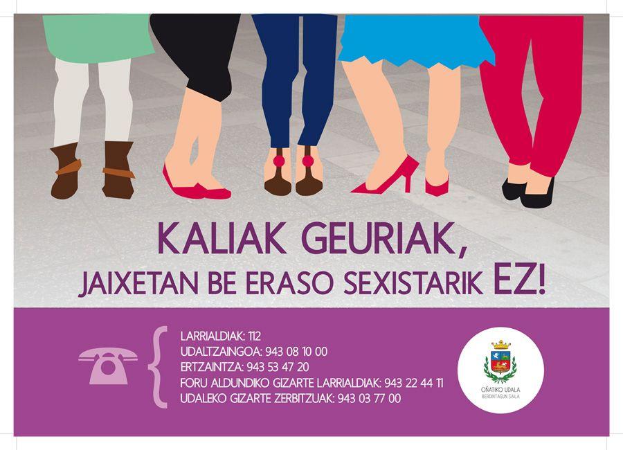 Generoen berdintasunerako eginiko kartela / Cartel para la igualdad entre géneros