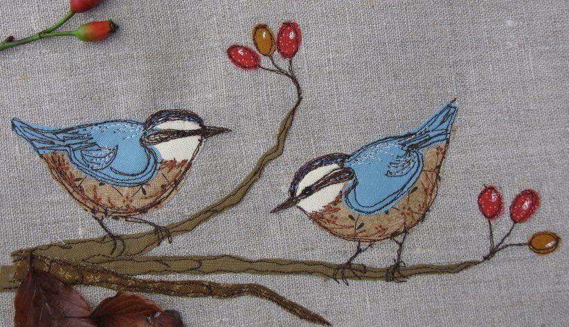 Dear emma handmade designs free motion sewing bordado bordado
