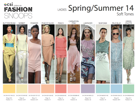 2014 Spring/Summer Color Trends from Fashion Snoops ...