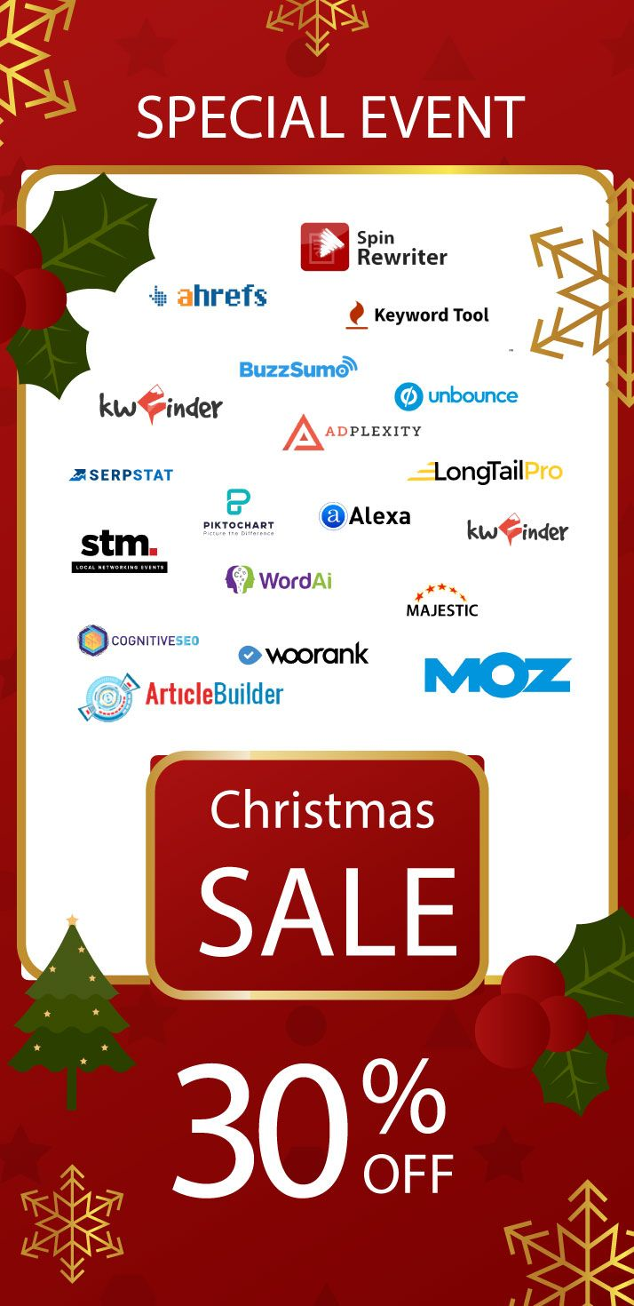 Christmas Cyber Monday Seo Tools Deals For 2019 Seo Tools Free Seo Tools Digital Marketing Tools