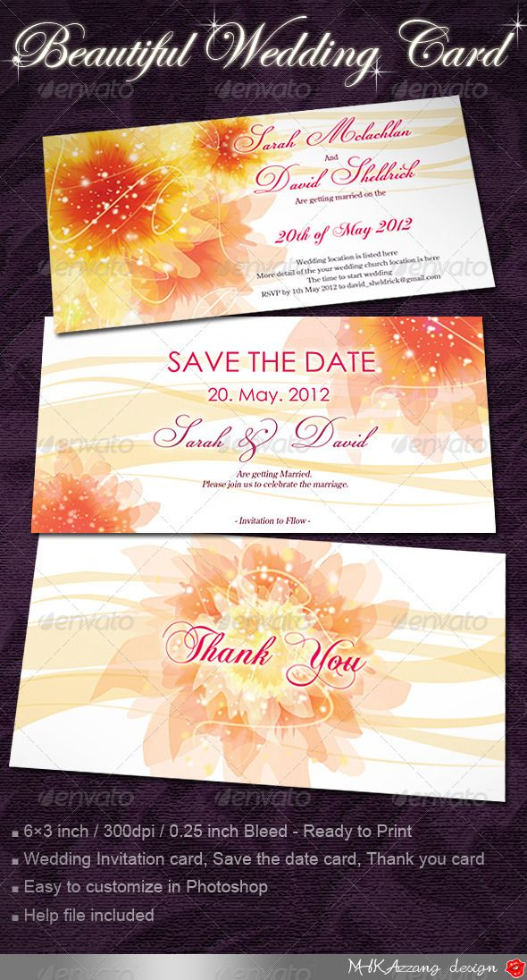 Wedding Invitation Cards with Flowers Wedding invitation cards - wedding flyer