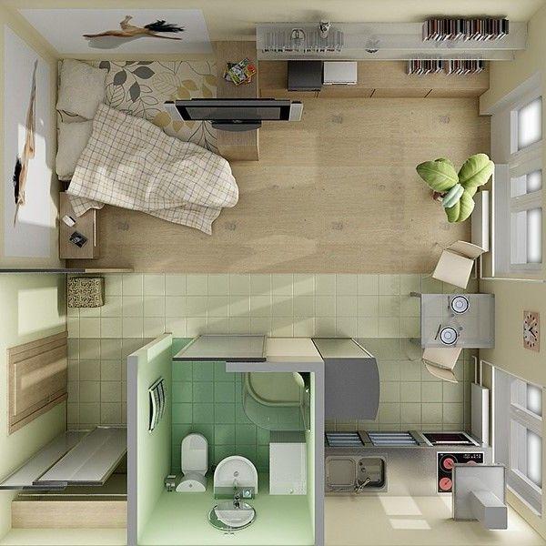 Plan grand studio home pinterest planos casas for Decorar habitacion residencia universitaria