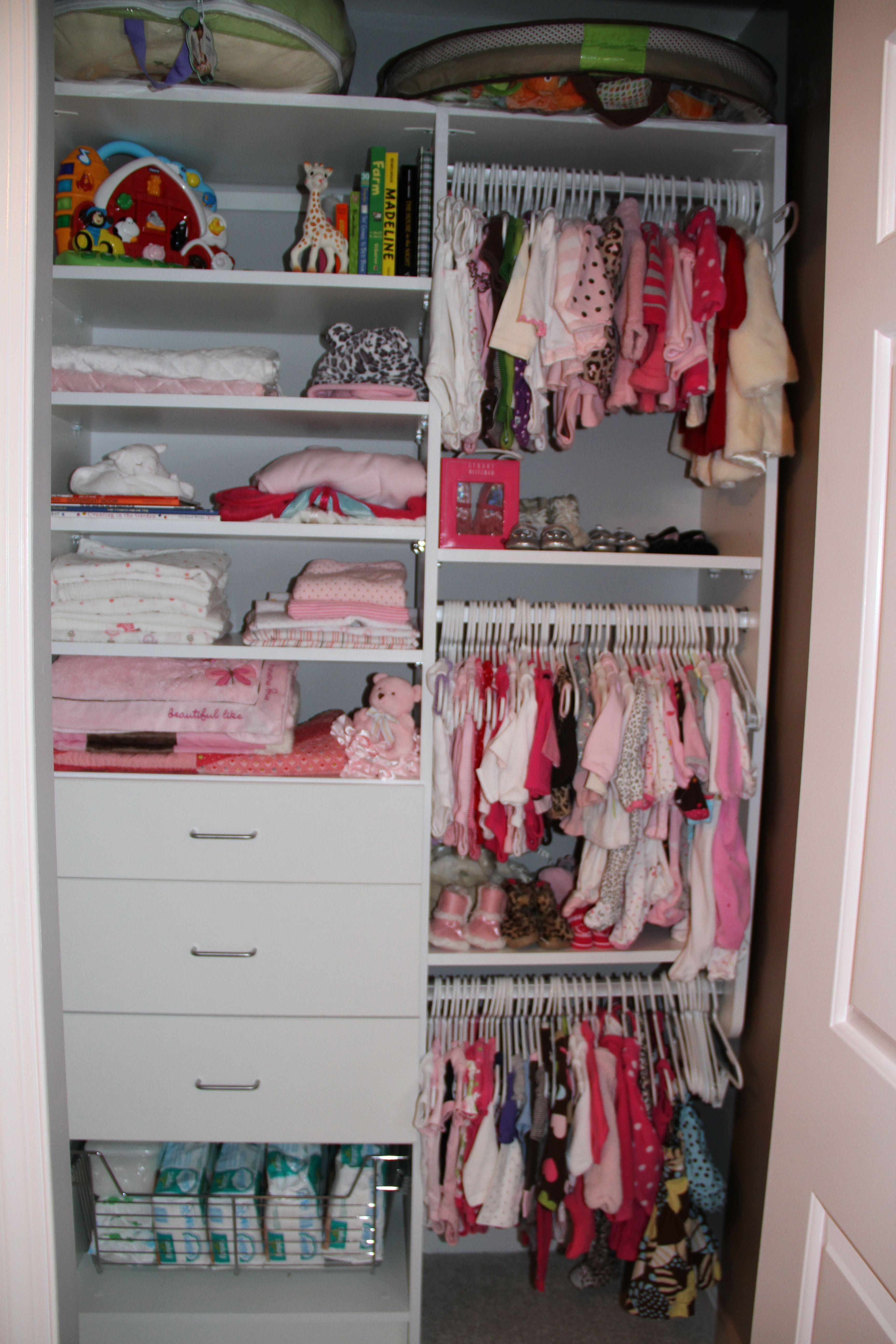 Bon Nursery Closet   Girl   California Closets   Ah What A Real Closet Looks  Like. Tidy And Well Used!
