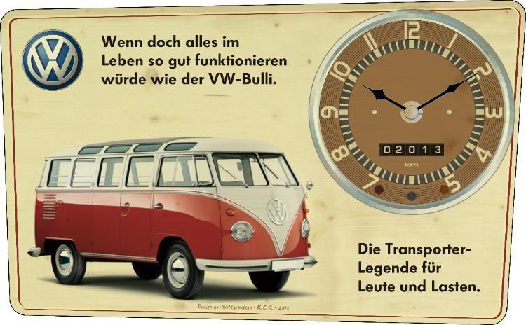 vintage wanduhr vw bulli vw vw cars volkswagen bus. Black Bedroom Furniture Sets. Home Design Ideas