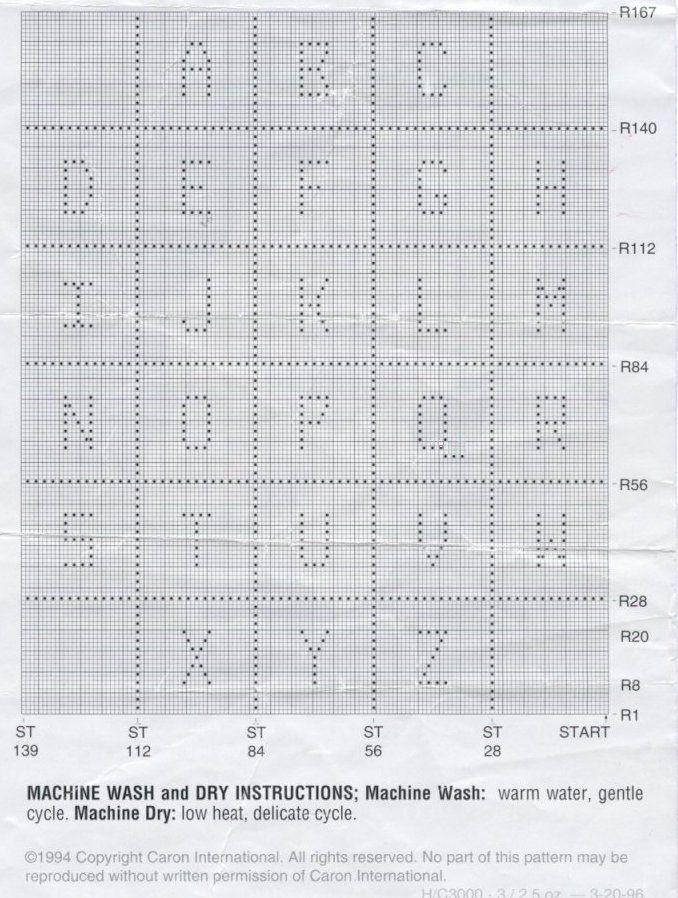 Patrones Crochet   Letras e números   Pinterest   Abecedario ...